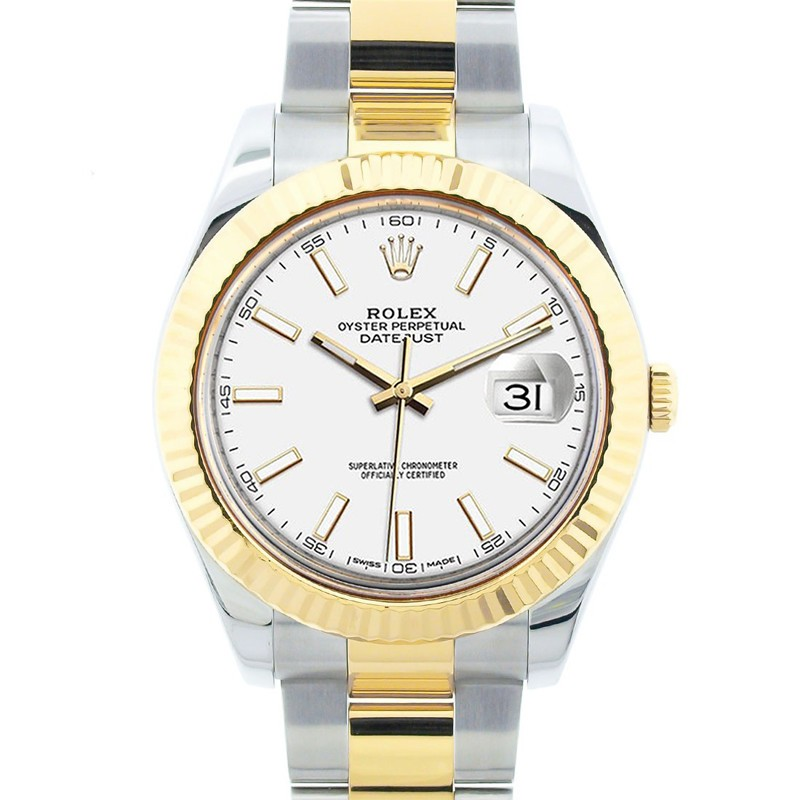df3b6ccdbdc Rolex Men's 18K Yellow Gold and Stainless Steel 41mm Datejust II, Champagne  Dial, Luminous Stick Hour Markers, Yellow Gold Fluted Bezel, Two Tone Oyster  ...