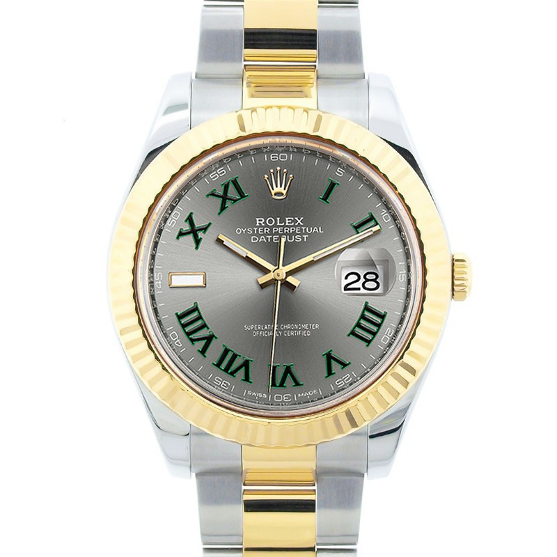 32210e8af1b Rolex Men's 18K Yellow Gold and Stainless Steel 41mm Datejust II, Champagne  Dial, Luminous Stick Hour Markers, Yellow Gold Fluted Bezel, Two Tone  Oyster ...
