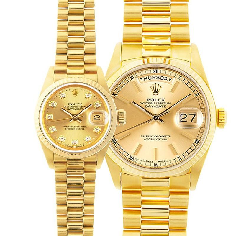 Rolex Datejust Watches His \u0026 Hers 18K Gold