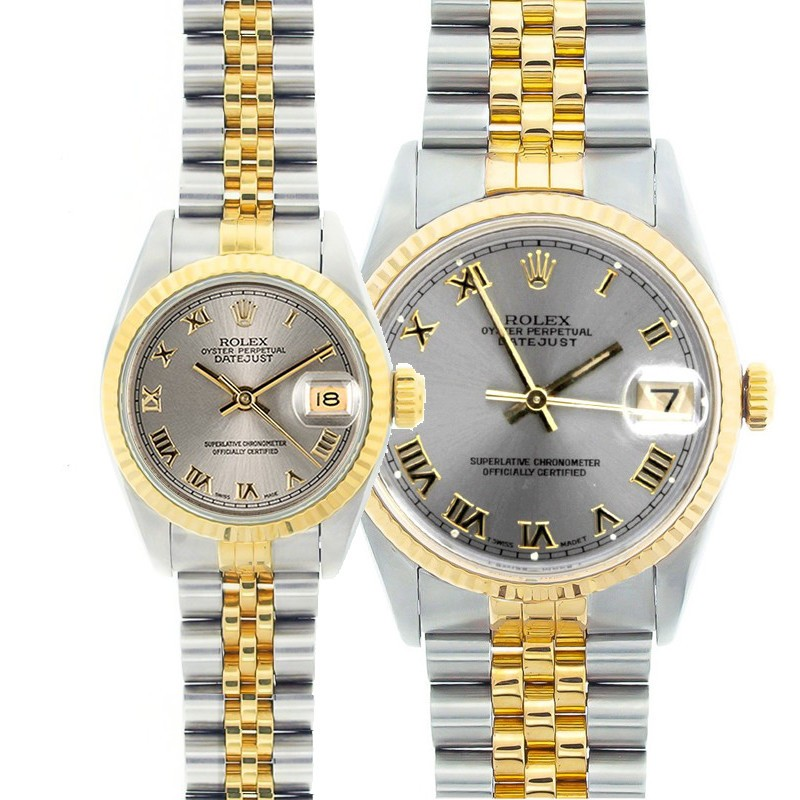 Rolex Datejust Watches His \u0026 Hers Stainless Steel 18K Gold