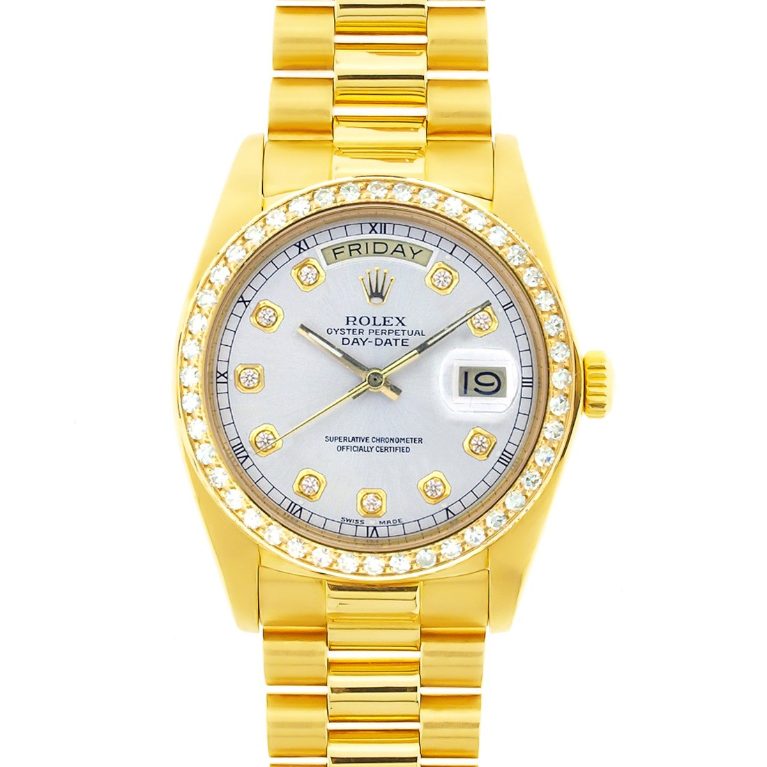 18k Yellow Gold Oyster Perpetual Rolex Day Date President