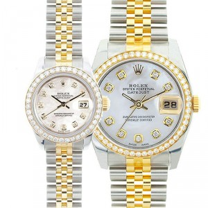 His & Hers Datejust Watches Mid 2000's Models