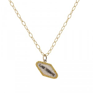 14K White Gold Las Vegas Diamond Charm / Pendant