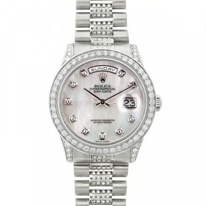 Rolex President 18K White Gold Fully Loaded 18239