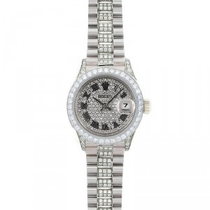 Rolex 18K White Gold Lady President Fully Loaded