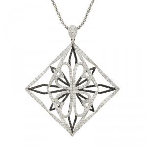 18K White Gold Fashion Diamond Pendant